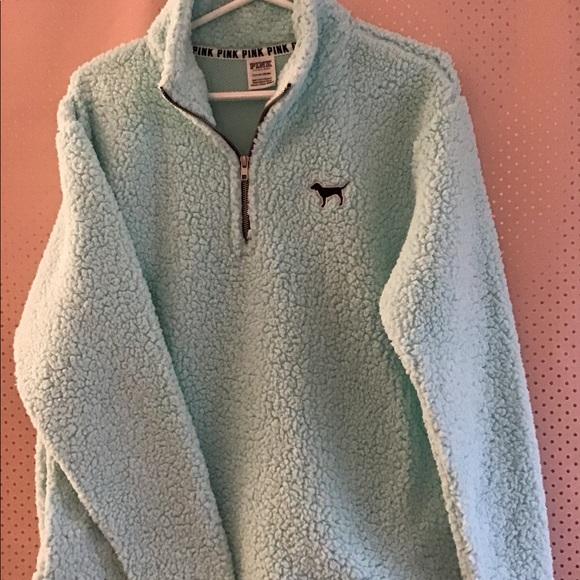 9de24cfe046180 PINK Victoria's Secret Jackets & Coats | Vs Pink Polar Fleece Half ...